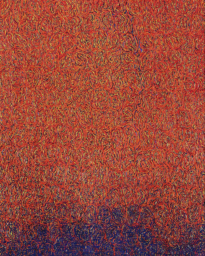 Blue Line, 2009, 18 x 15, Oil on Canvas
